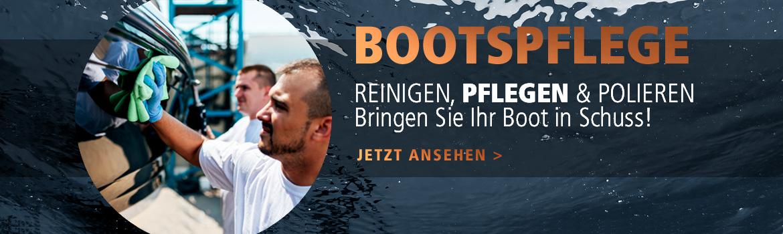 Bootspflege bei Gründl Bootsimport