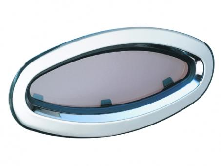 Lewmar Edelstahlfenster Fixedlight, 196x452mm Portlight fest | 196 x 452mm