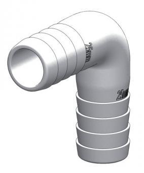 Gründl | 90° Schlauchverbinder für Schlauch 25mm 25mm